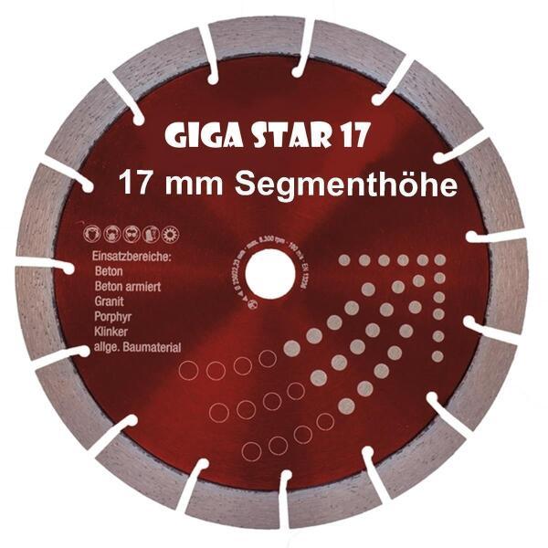 Diamantscheibe TORNADO Beton Granit  230 mm Flexscheibe MADE IN GERMANY 17mm